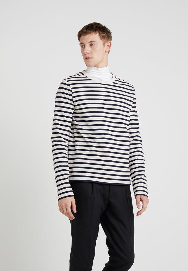 CREW BRETON TEE - Langærmede T-shirts - navy/ecru