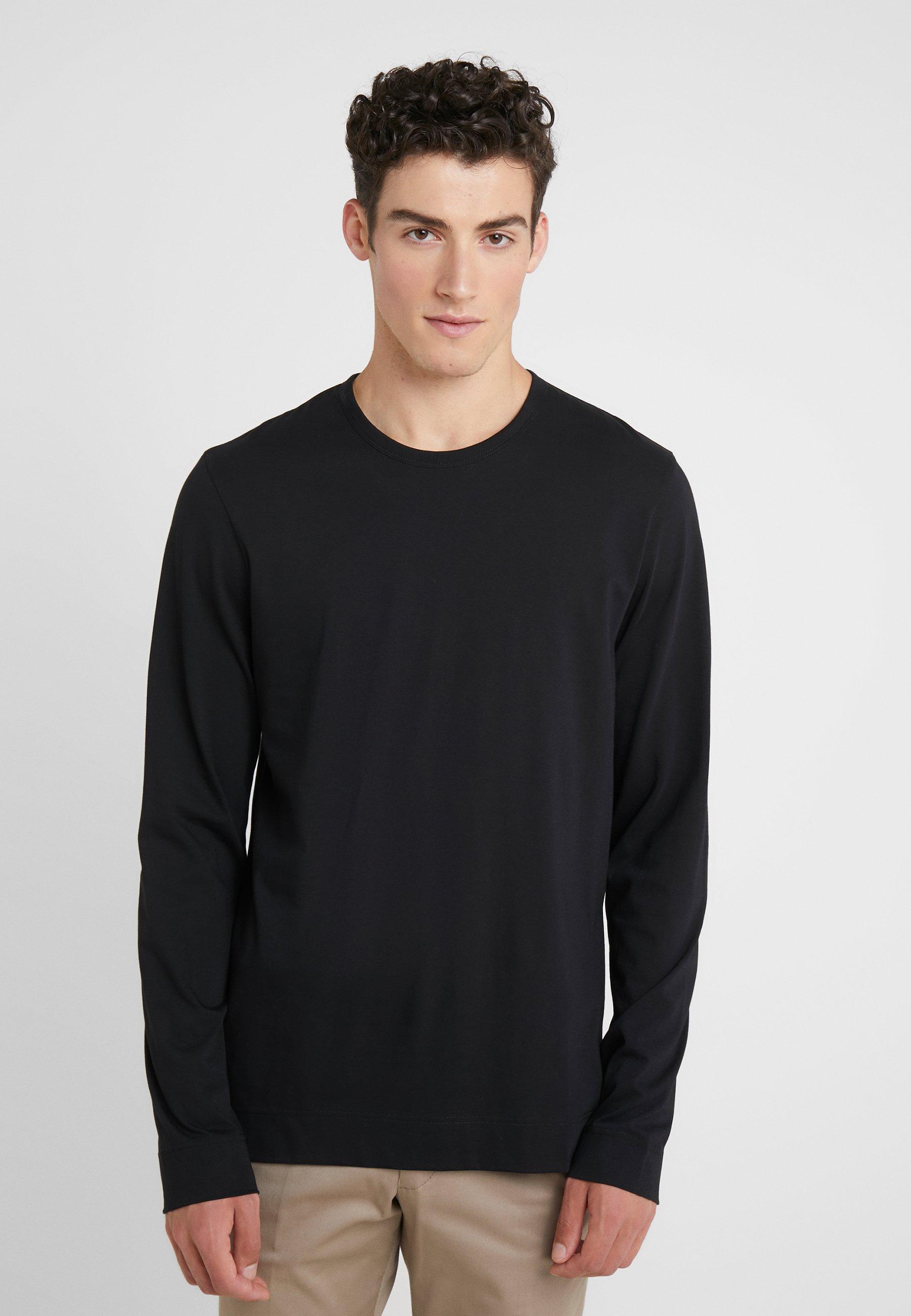 Joseph shirt Manches À MercerisedT Longues Crew Black nOP0wk