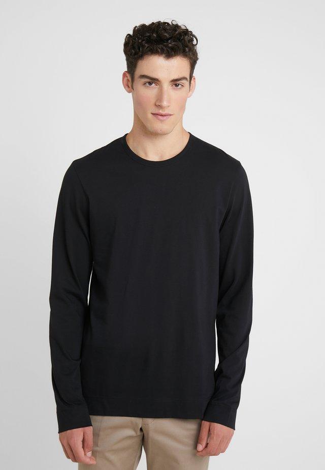 CREW MERCERISED  - Long sleeved top - black