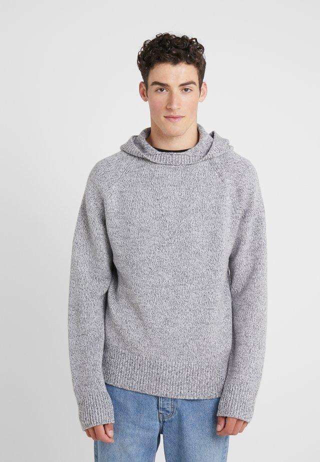 HOODY - Stickad tröja - grey chine
