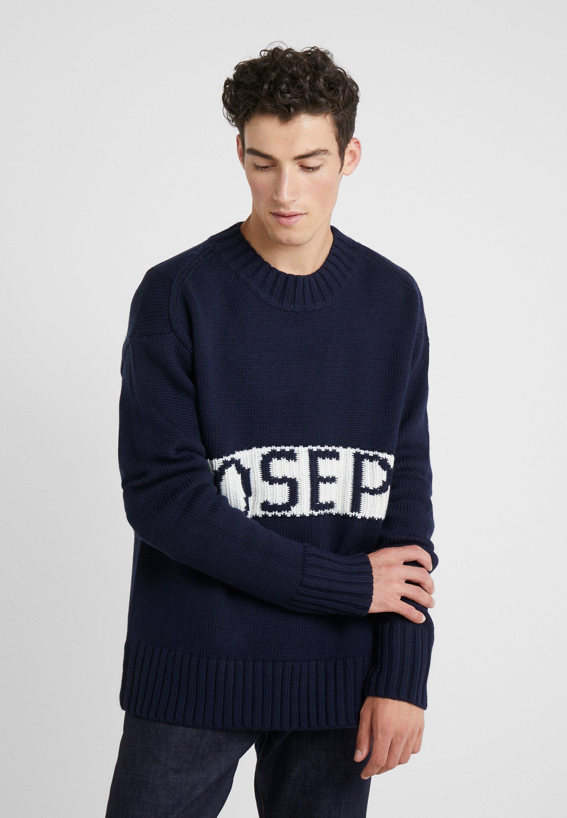Navy Joseph JoePullover Sloppy Sweater Logo GzqVpLUMS