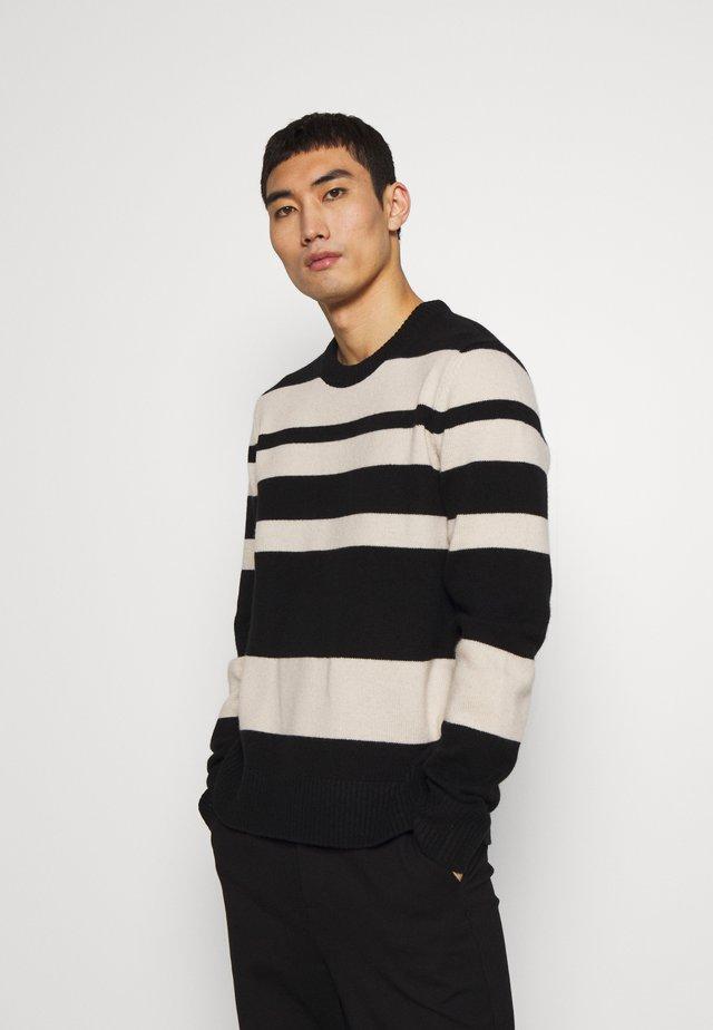 CREW STRIPE - Sweter - black
