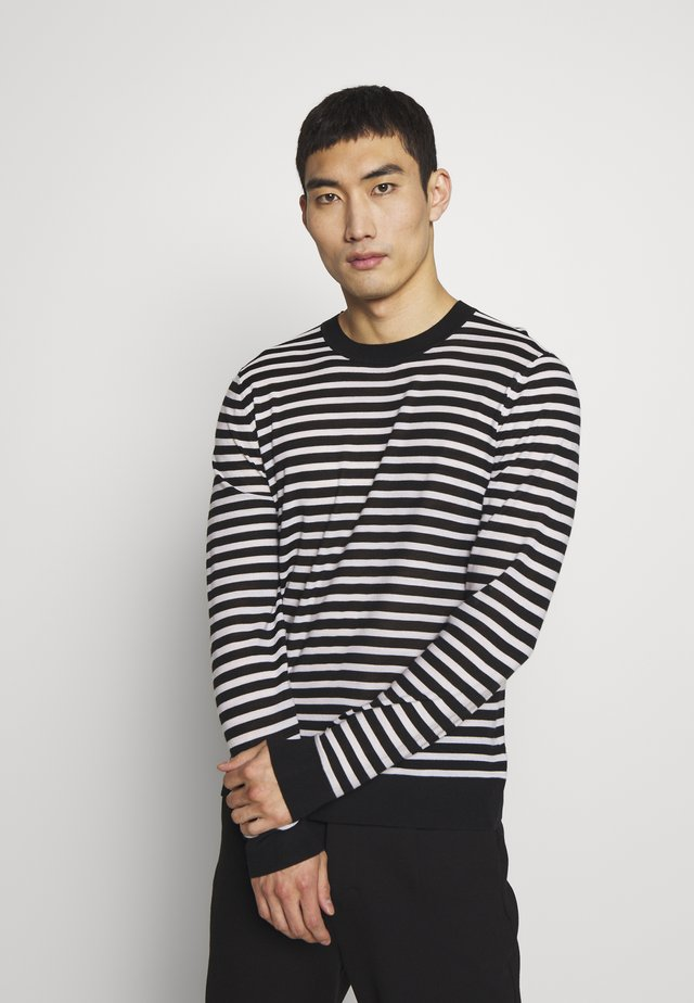 CREW STRIPE - Jumper - black