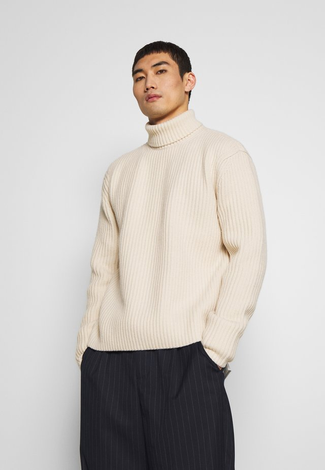 HIGH SOFT - Strikpullover /Striktrøjer - ivory