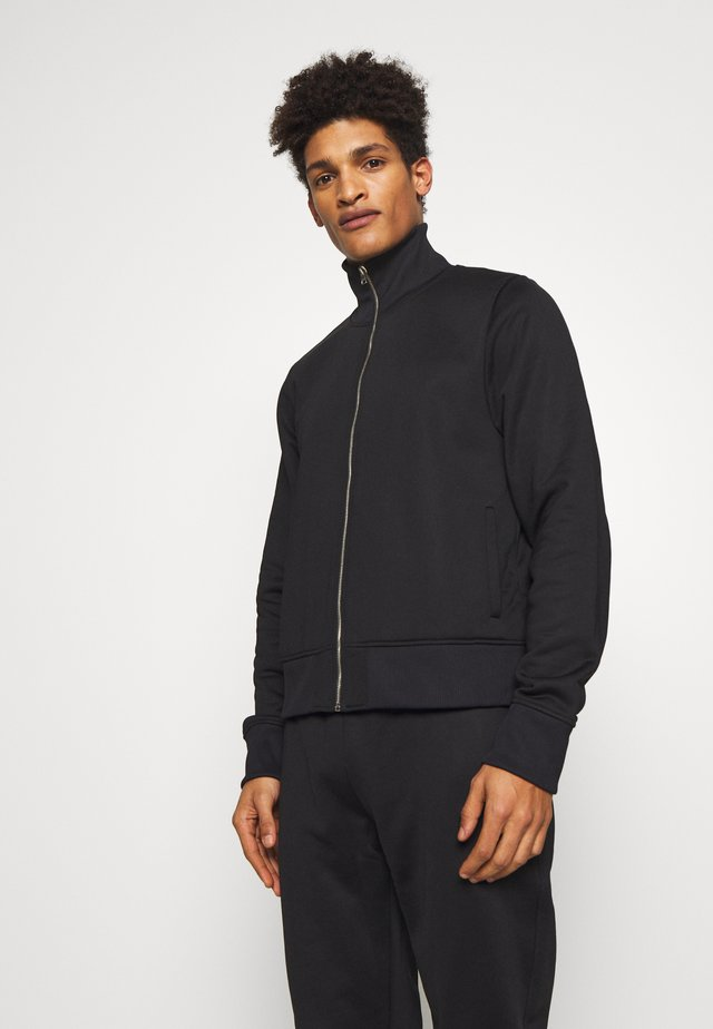TRACK TOP - Mikina na zip - black