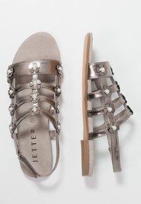 JETTE - Sandals - pewter - 3
