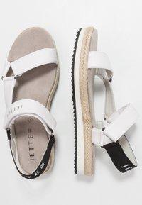 JETTE - Sandály na platformě - white - 3
