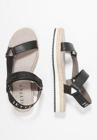 JETTE - Platform sandals - black - 3