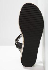 JETTE - Platform sandals - black - 6