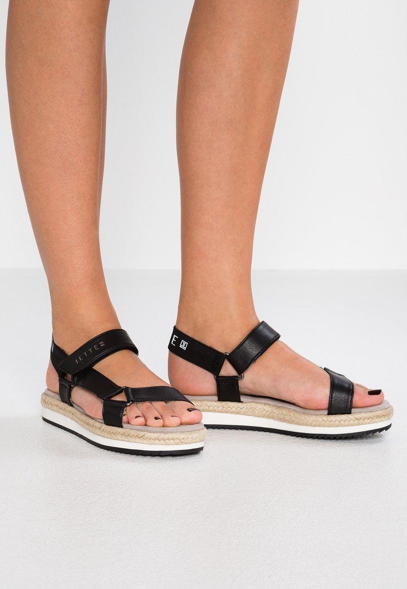 JETTE - Platform sandals - black