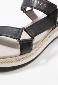 JETTE - Platform sandals - black - 2