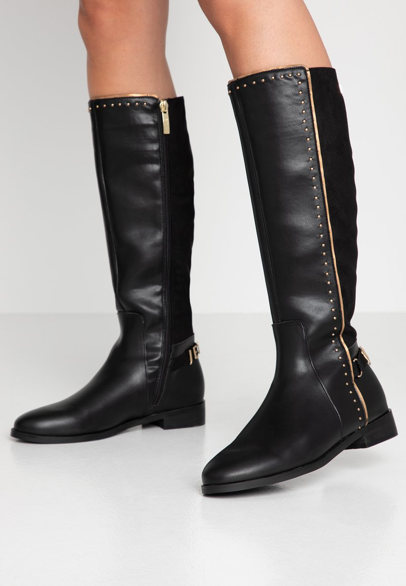JETTE - Boots - black/gold
