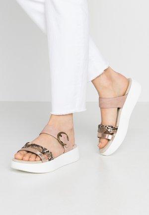 Pantofle - bronze/rose