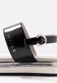 JETTE - Platform sandals - gunmetal/black - 2