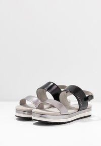 JETTE - Platform sandals - gunmetal/black - 4