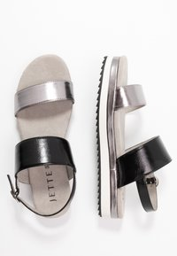 JETTE - Platform sandals - gunmetal/black - 3