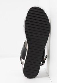 JETTE - Platform sandals - gunmetal/black - 6
