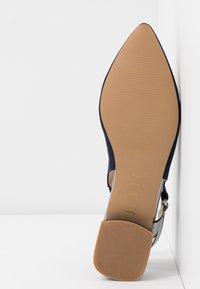JETTE - Slingback ballet pumps - navy - 6