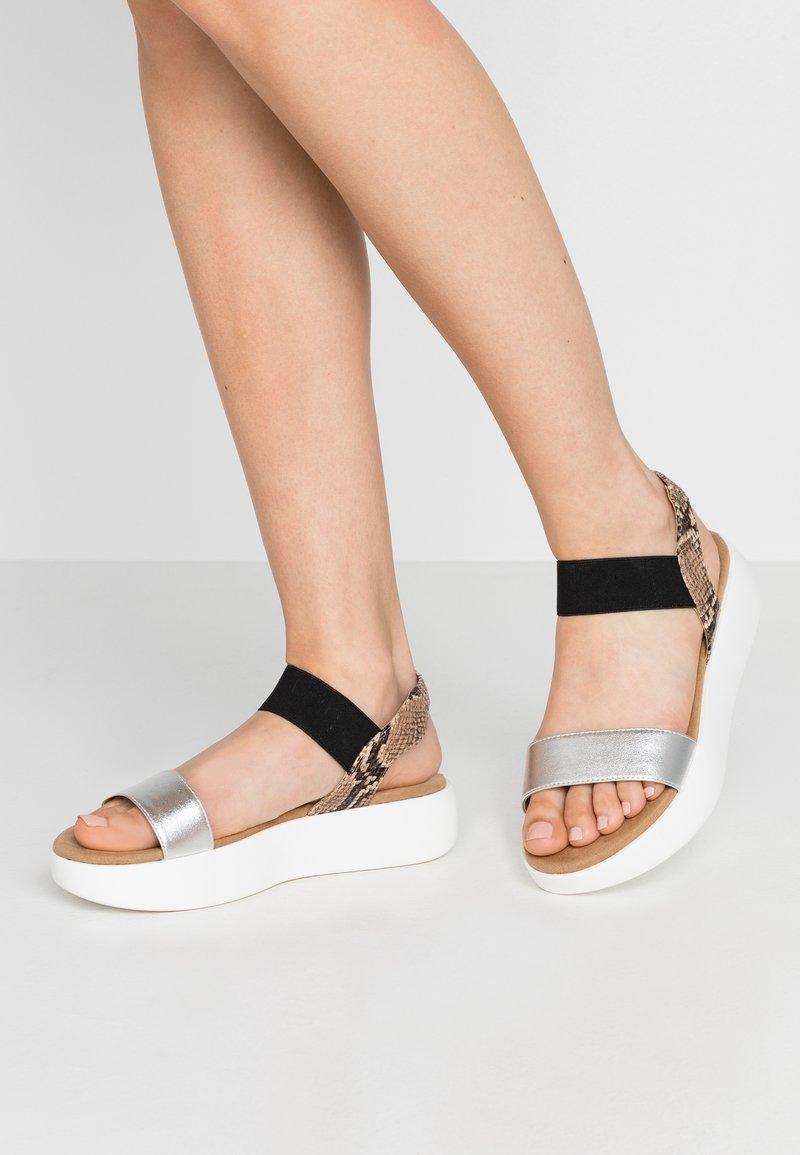JETTE - Platform sandals - silver/rose