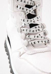 JETTE - Platform ankle boots - white - 2
