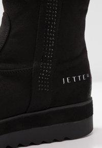JETTE - Kotníkové boty na platformě - black - 5
