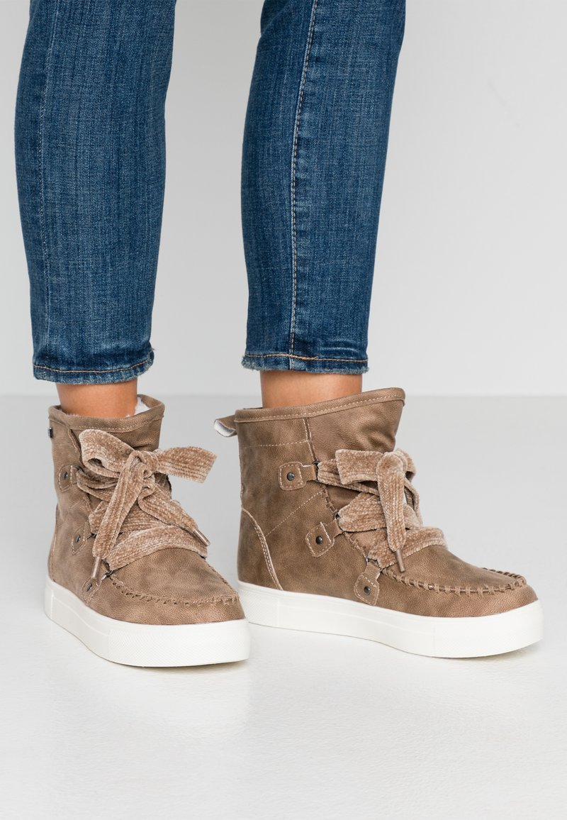 JETTE - Lace-up ankle boots - beige