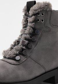 JETTE - Platform ankle boots - grey - 2