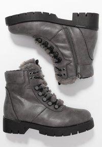 JETTE - Platform ankle boots - grey - 3