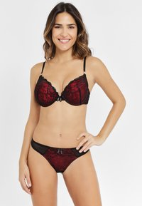 JETTE - Thong - black/red - 1