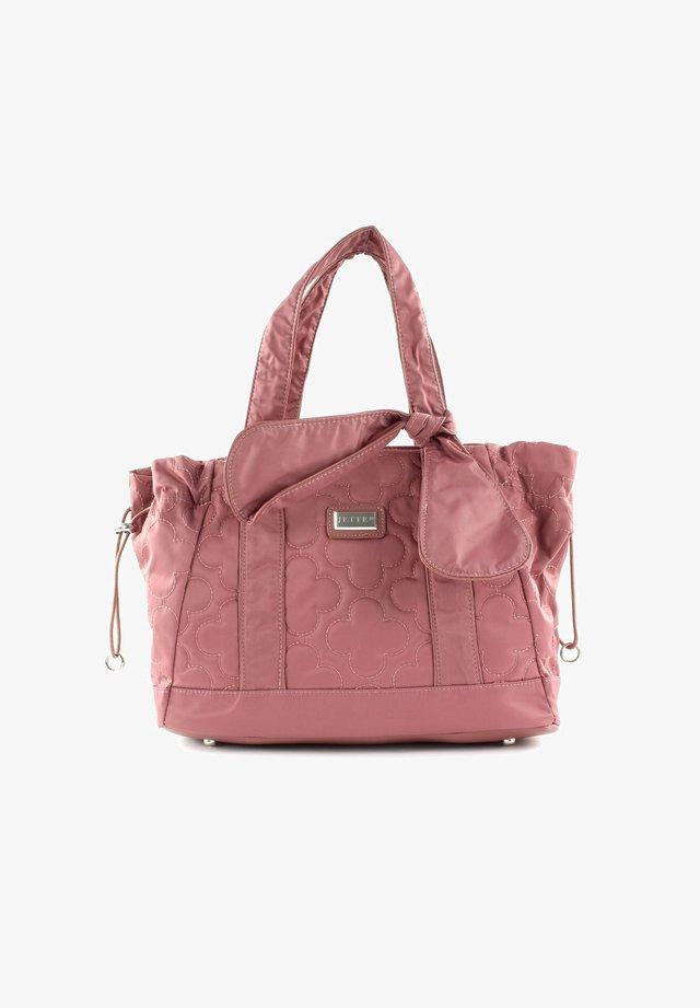 LUCKY - Handbag - rosewood / shiny silver