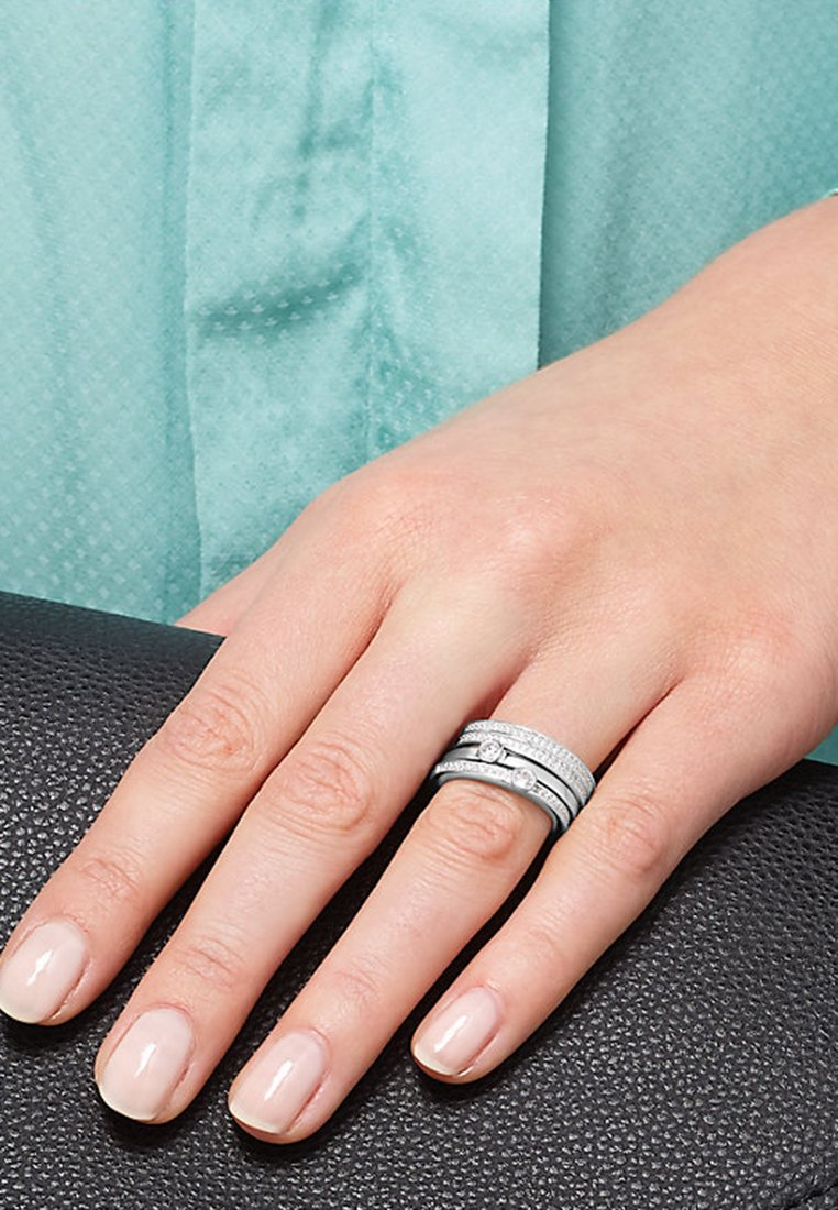 JETTE - STAKING SET - Ring - silver-coloured
