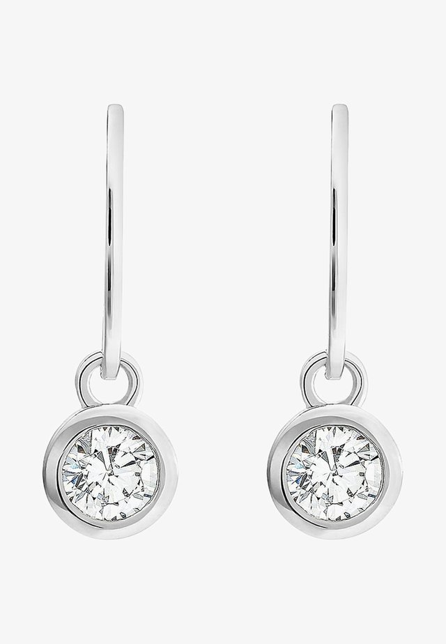Earrings - silver coloured