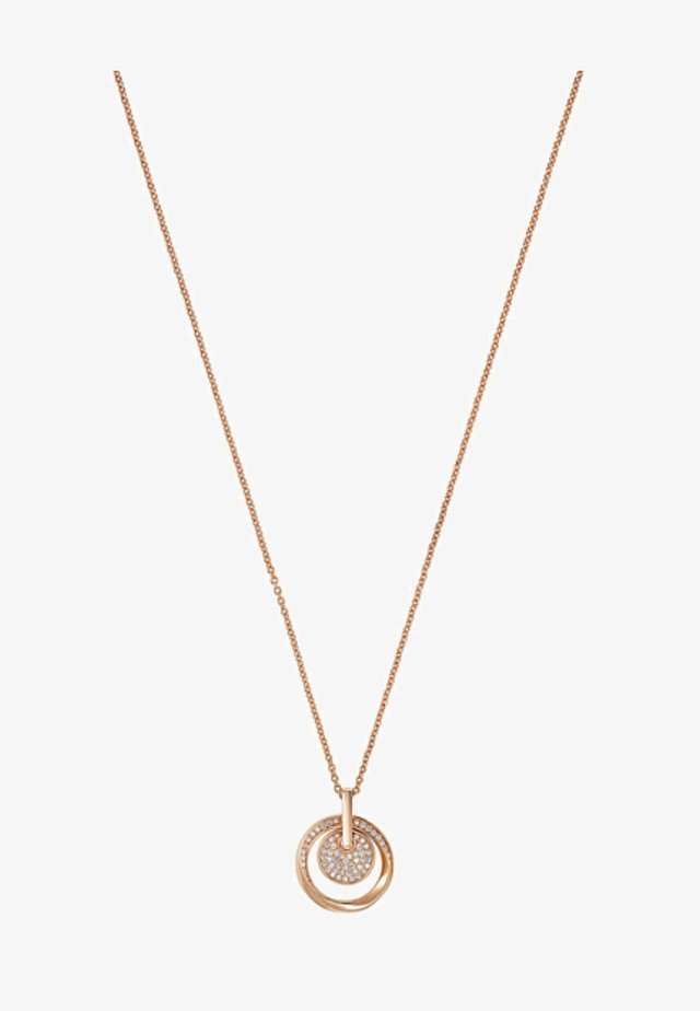 Necklace - rose gold- coloured