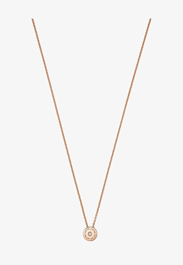 Necklace - rose gold colored