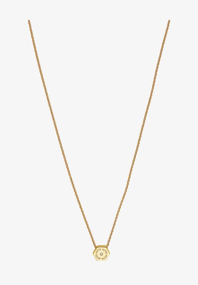 HEXAGON - Necklace - yellow gold