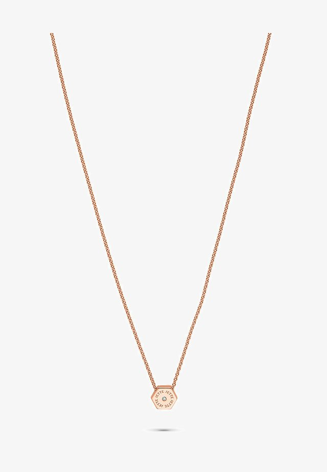 HEXAGON - Halskette - rose gold-coloured