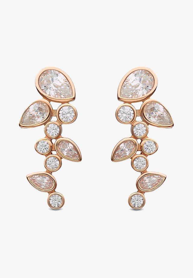 Earrings - rosé gold - coloured