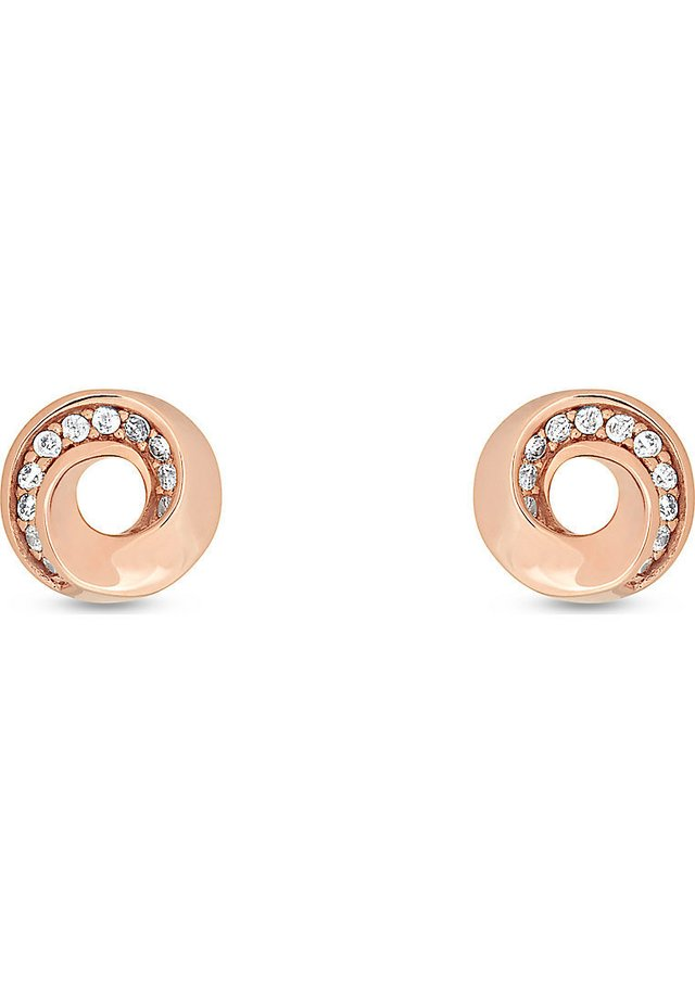 JETTE SILVER DAMEN-OHRSTECKER 925ER SILBER 22 ZIRKONIA - Earrings - rosé