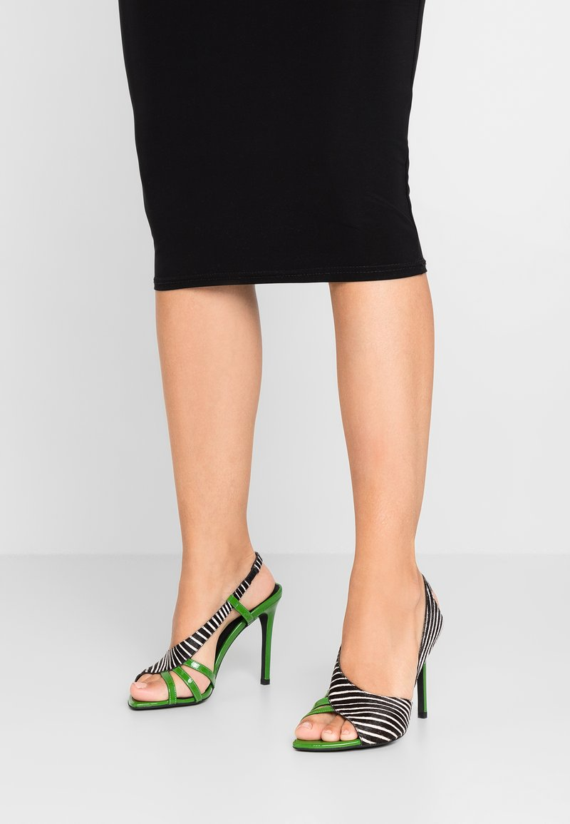 Jeffrey Campbell - High heeled sandals - white/black