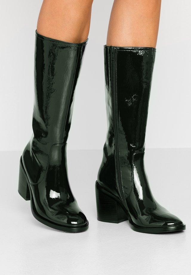 CYAN - High Heel Stiefel - green