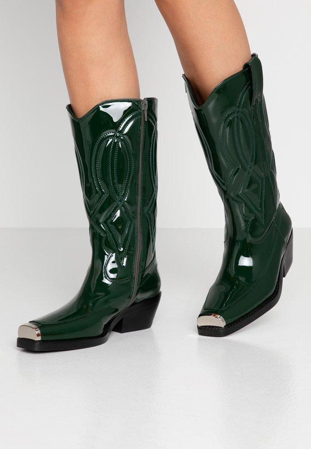 EAGLES - Biker-/cowboysaappaat - green