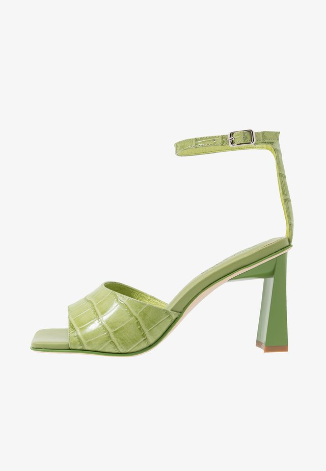 ZEBULON - High heeled sandals - green