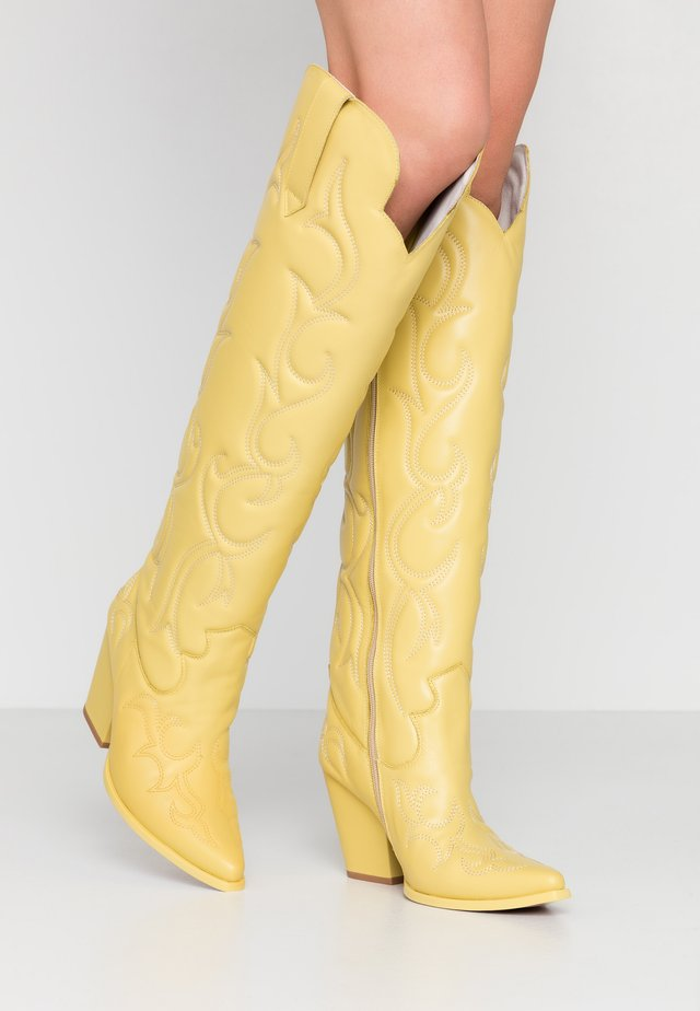 AMIGOS - High heeled boots - yellow