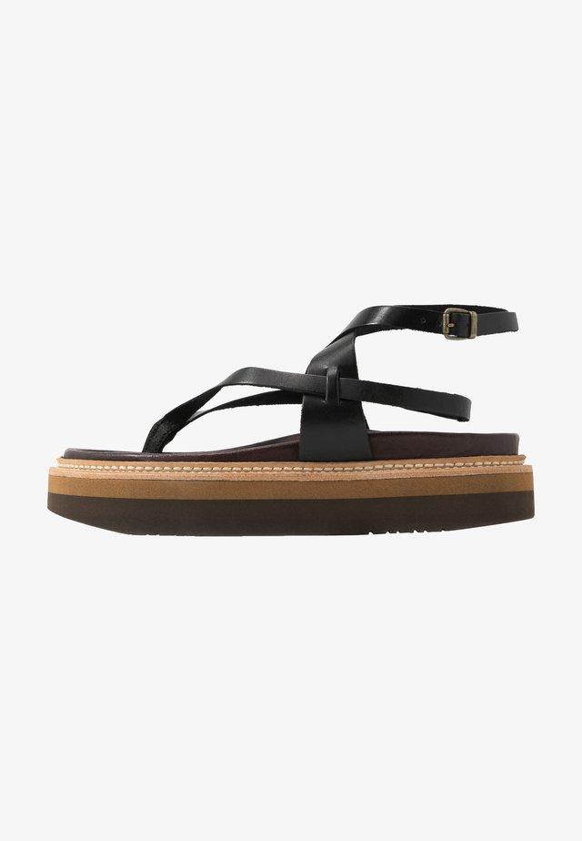 ESTERELLA - T-bar sandals - black