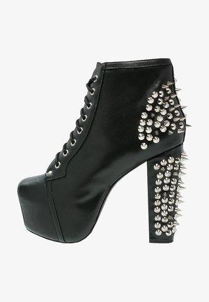 LITA - Højhælede støvletter - new black