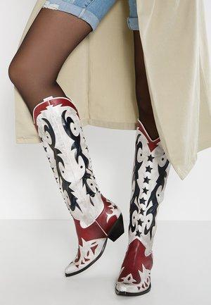 STARWOOD - Kowbojki i obuwie motocyklowe - white/brown
