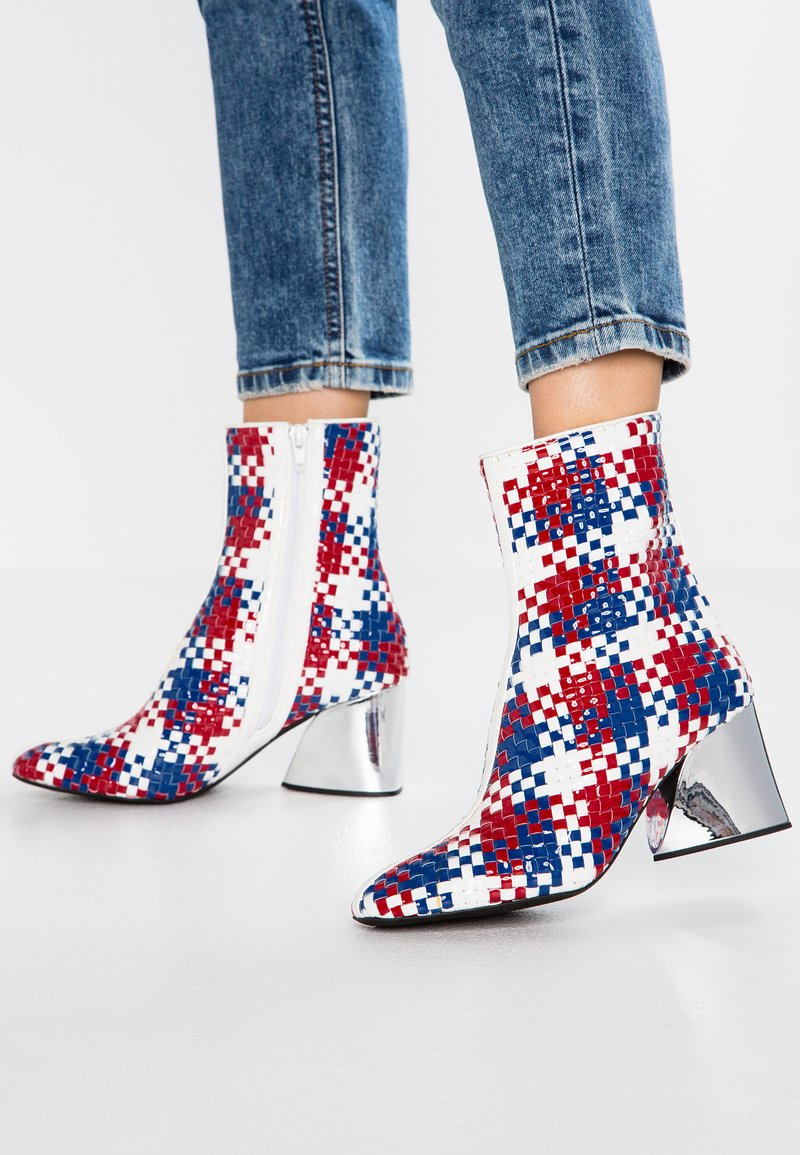Jeffrey Campbell - AGUA - Classic ankle boots - red/blue/white