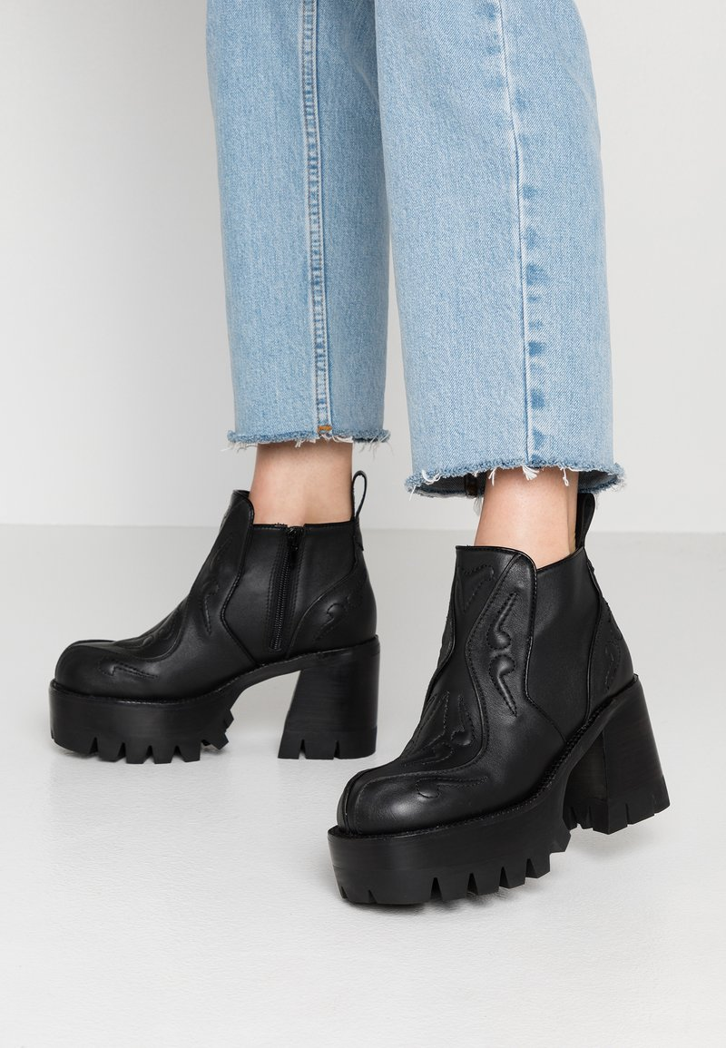 Jeffrey Campbell - DROPTOP - High heeled ankle boots - black