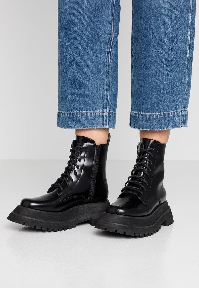 Jeffrey Campbell - MECHANIC - Platform ankle boots - black