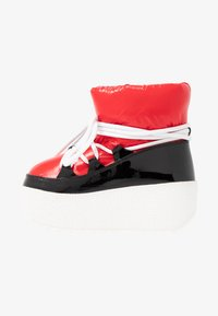 Jeffrey Campbell - SNOWIES - Kotníkové boty na platformě - black/red - 1